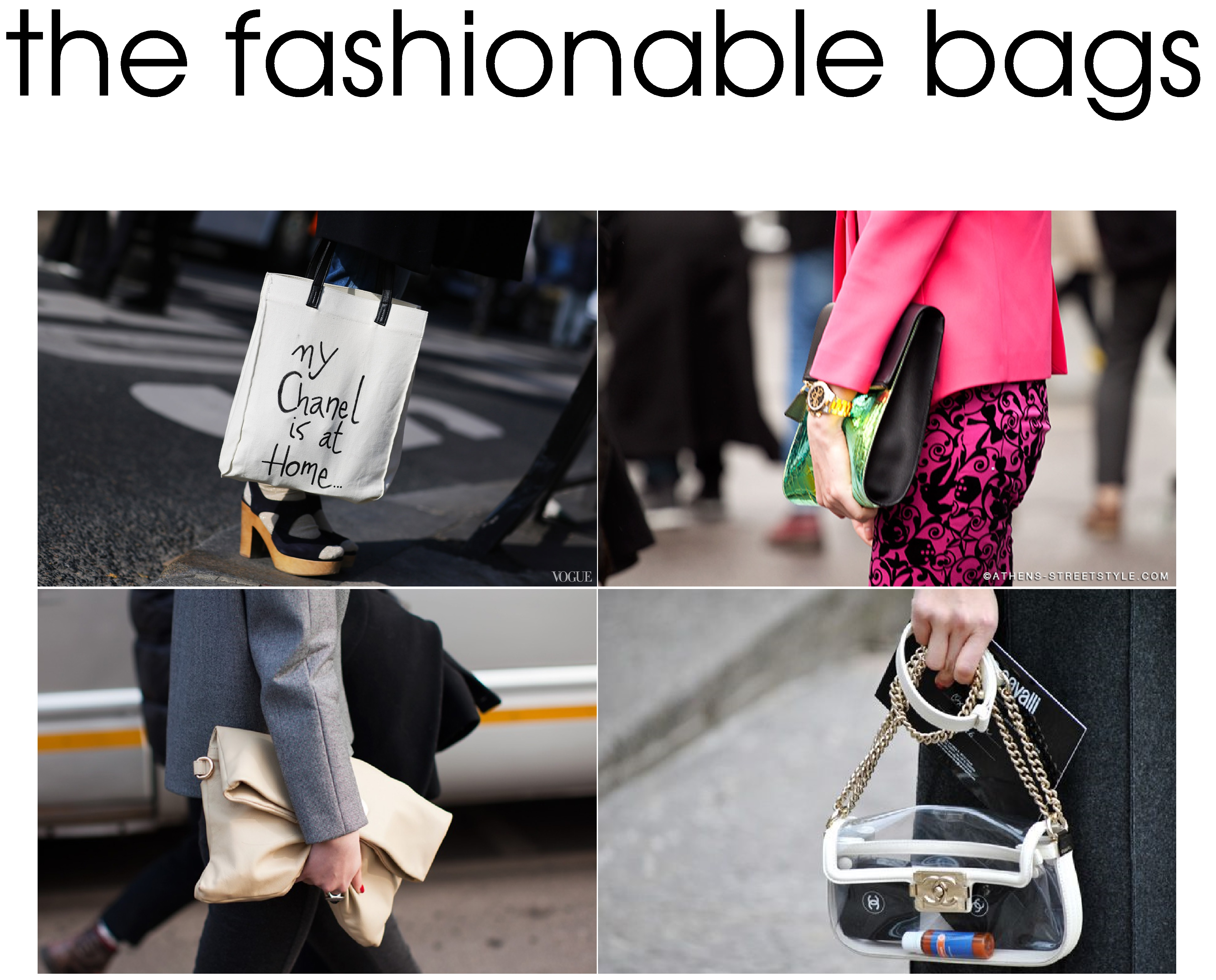 """2862a949d6da ha love the """"my chanel is at home"""" bag! see through ones are also a win  win! love em all! Which one do you like   )"""